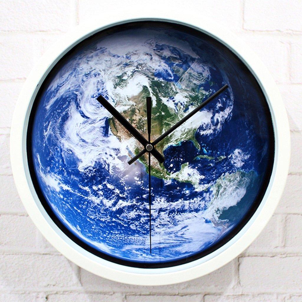 COCO Blue Inicio Hermosa Tierra Reloj De Pared Creativa Del Planeta Reloj Reloj De Cuarzo De Cuarzo De Mobiliario Creativo 12 Pulgadas HOME: Amazon.es: ...