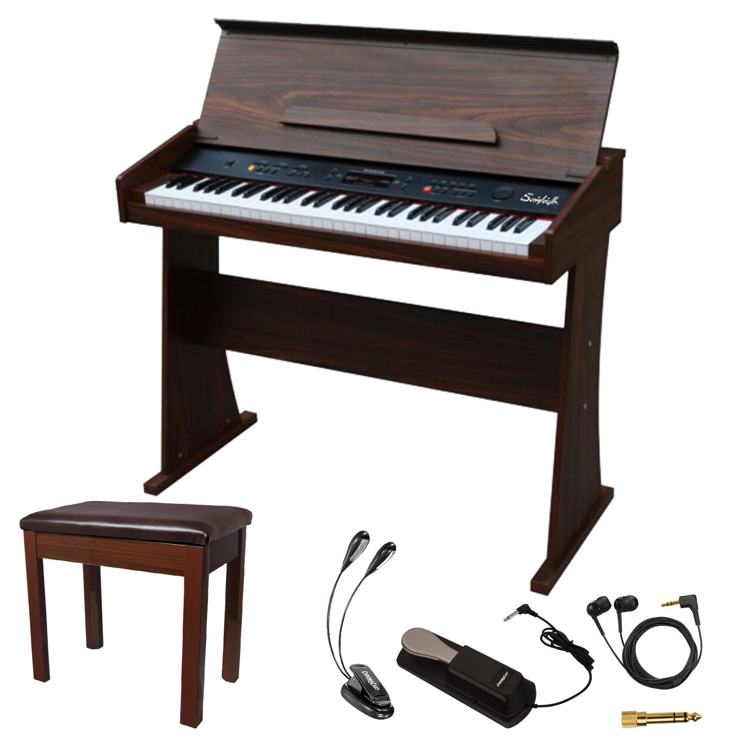 Sawtooth 61-Key Digital Console Piano with Bench & Accessories (ST-DCP-61-KIT-1)