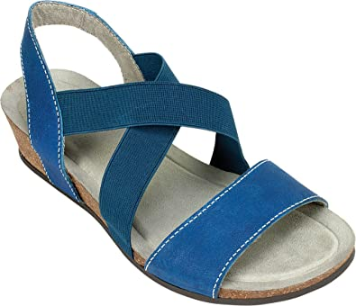 2017 Unique White Mountain Carlisa Wedge Footbed Sandal French Blue