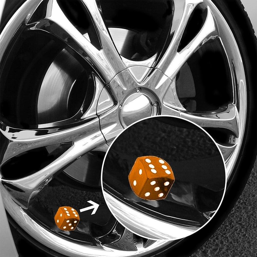 everpert 4/W/ürfel Stil Auto Reifen Rad Reifen Kappen Ventil Stiel Staub Bez/üge