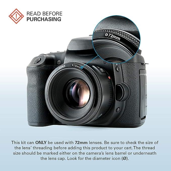 Polaroid Optics juego de filtros de 72 mm de 4 piezas (UV, CPL, FLD, WARMING): Amazon.es: Electrónica