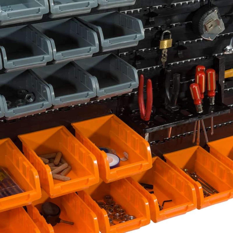 28 bandejas Paneles de pared con bandeja de boquilla WerkaPro 10842 Portaherramientas 2 paneles