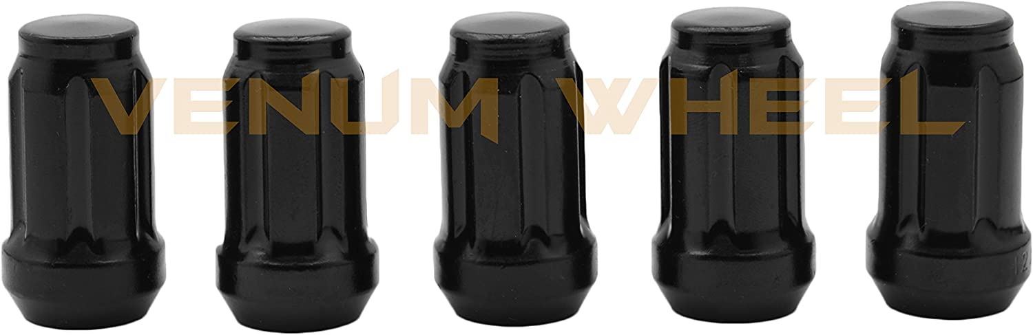 M12x1.5 Thread Pitch Tuner Style Spline Black Lug Nuts w// 2 Security Sockets Fits CT200H IS GS RC SC 20