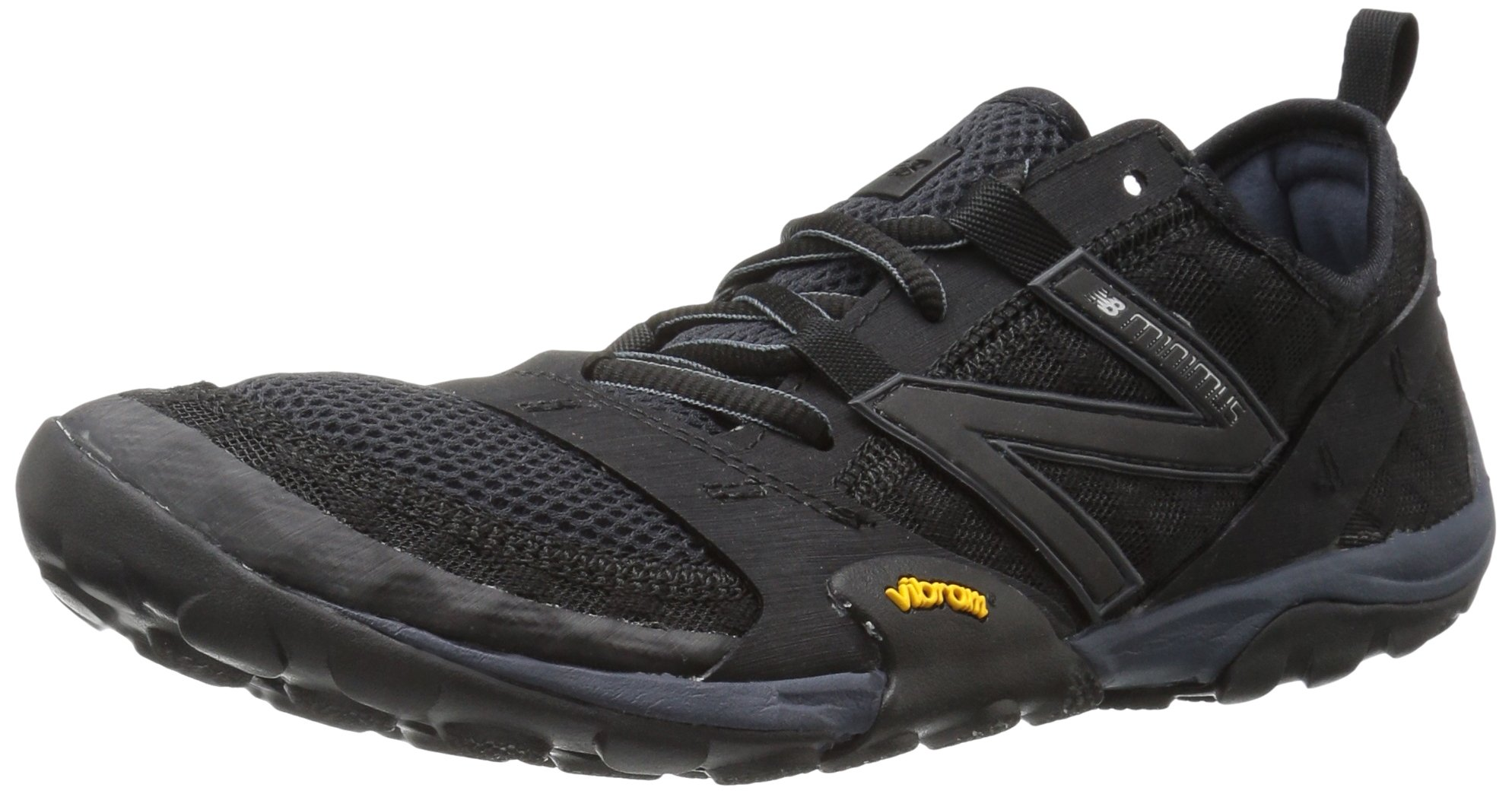 New Balance Men's MT10V1 Minimus Trail Running Shoe, Black/Silver, 9.5 D US by New Balance