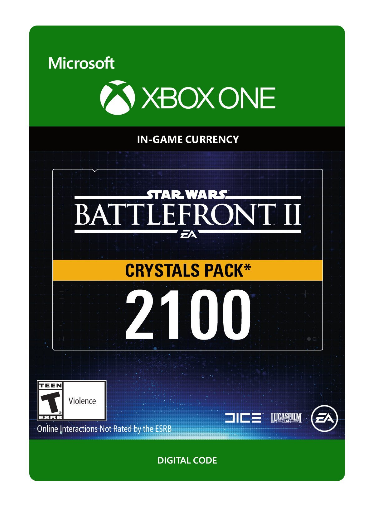Star Wars Battlefront II 2100 Crystals - Xbox One [Digital Code]