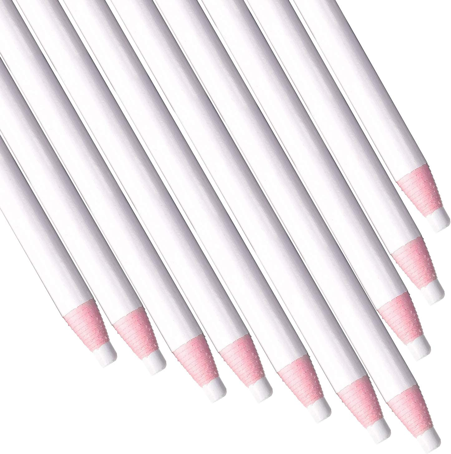 Sewing Pencils White Wax Crayon Pencil Free-Cutting Tailor's Pencil Fabric Marking Pencil for Sewing Supplies Tracing Tools (24 Pieces)