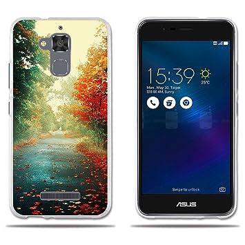 FUBAODA Funda ASUS Zenfone 3 MAX ZC520TL Carcasa Protectora Hermosa Estampa Otoñal,Resiste a los Arañazos Carcasa Completamente Resistente para ASUS ...