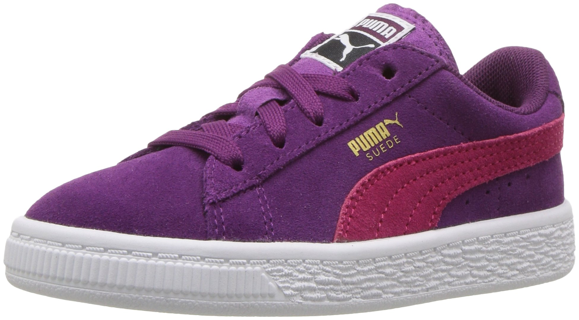 PUMA Kids' Suede Sneaker, Dark Purple-Love Potion, 9 M US Toddler