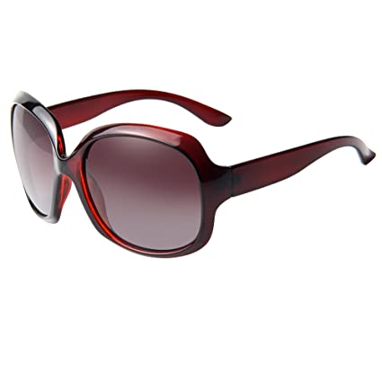 c3465e9e246 LIANSAN Womens Polarized Sunglasses Oversized Large Sun Glasses with Case  P3113 CO9 wine red  Amazon.ca  Luggage   Bags