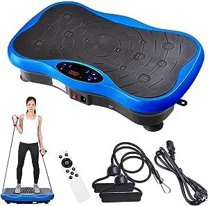 Yescom 3500W Slim Vibration Machine Platform Plate Bluetooth Body Shape Trainer Fitness Blue