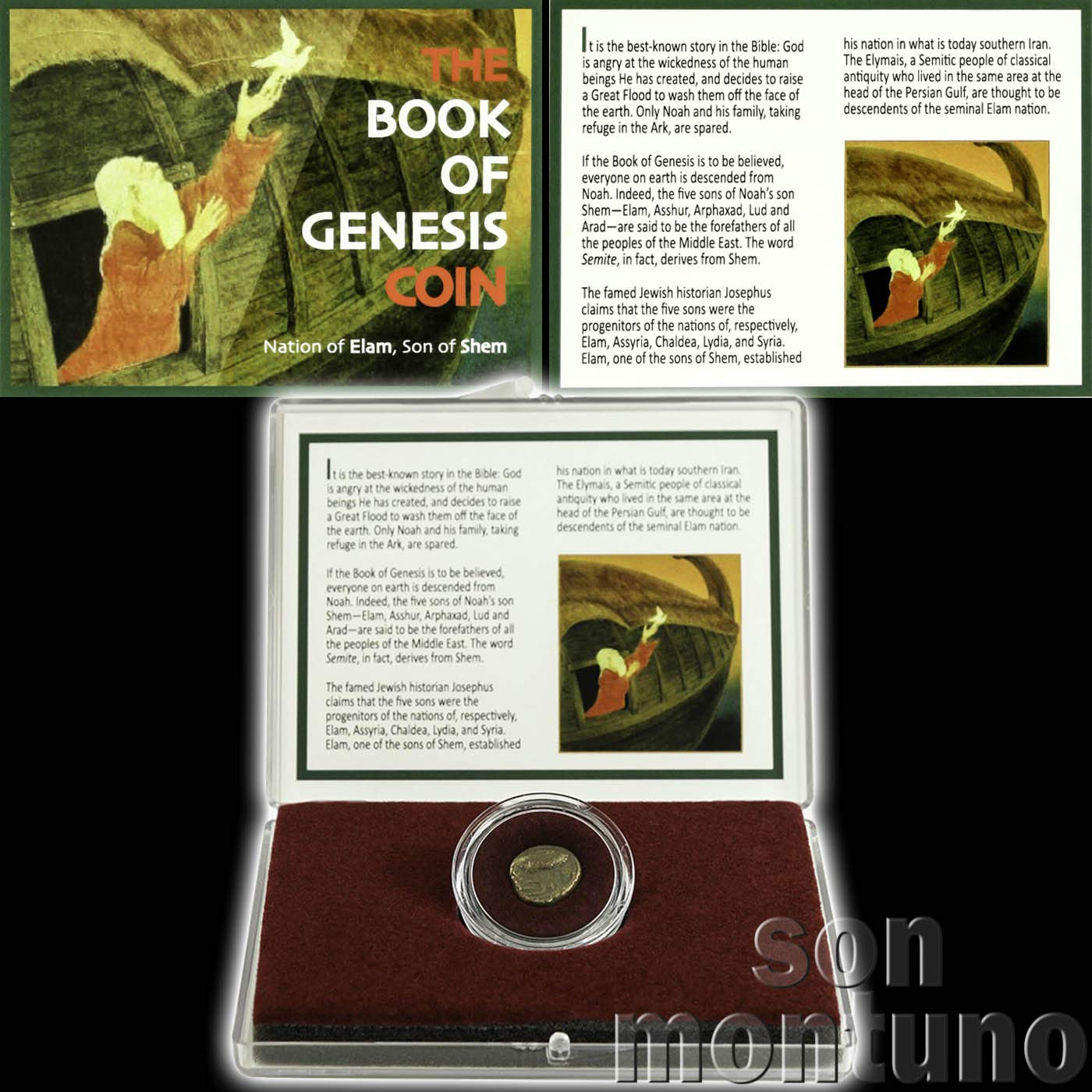 BOOK OF GENESIS COIN Ancient Biblical Semitic Judaea Elymais Drachm ELAM SHEM