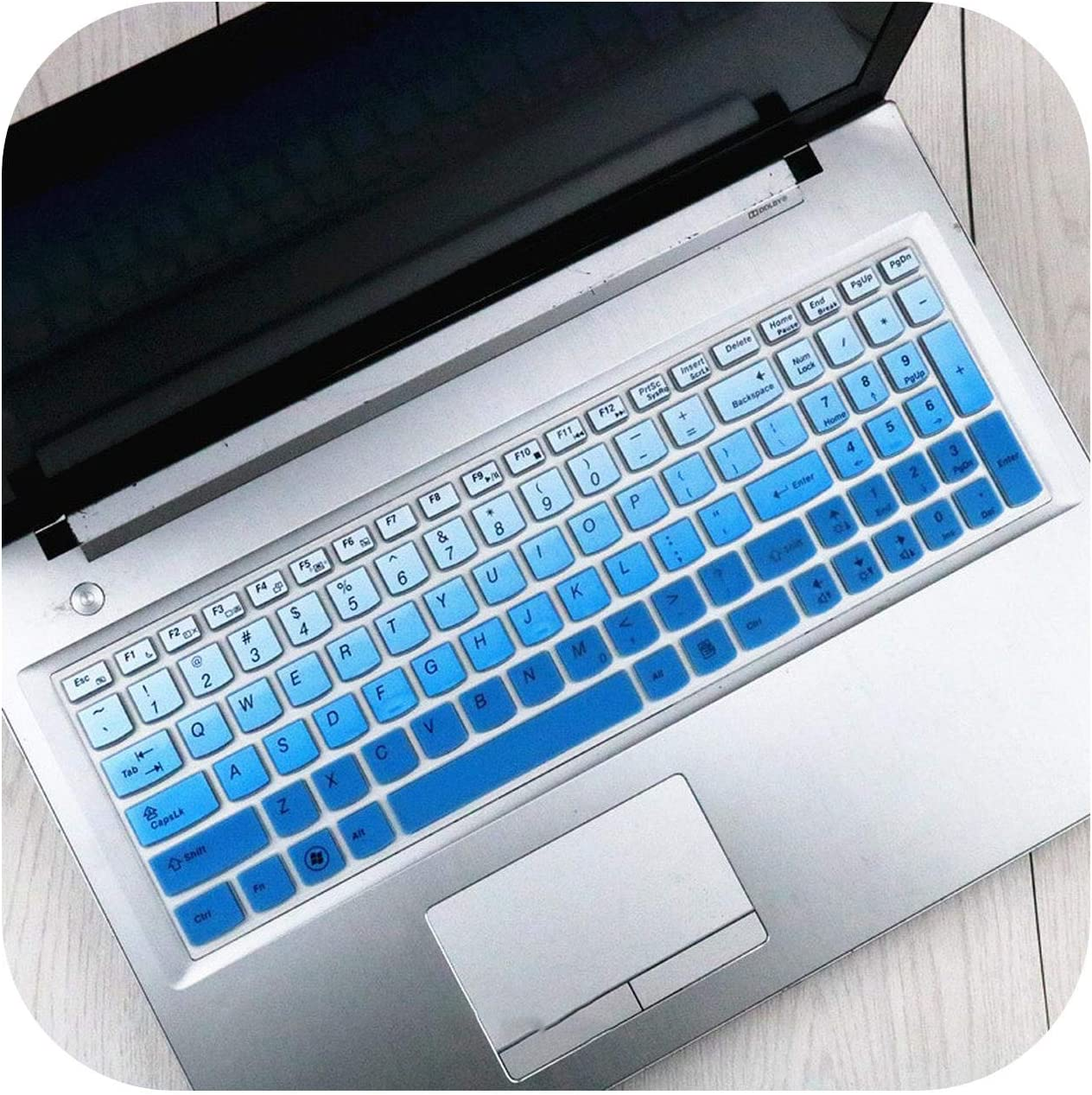 Silicone Keyboard Cover Protector Skin for Lenovo Ideapad Y580 Y570 Y570D Y500 Y510 Y510P Z580 Z560 Z565 Z570 Z575 Laptop-Blue