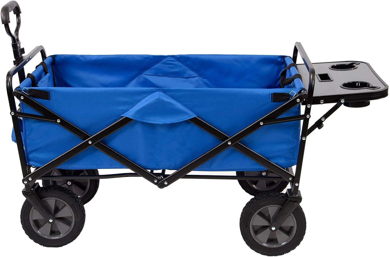 Mac Sports Folding Garden Utility Wagon w Table, Blue