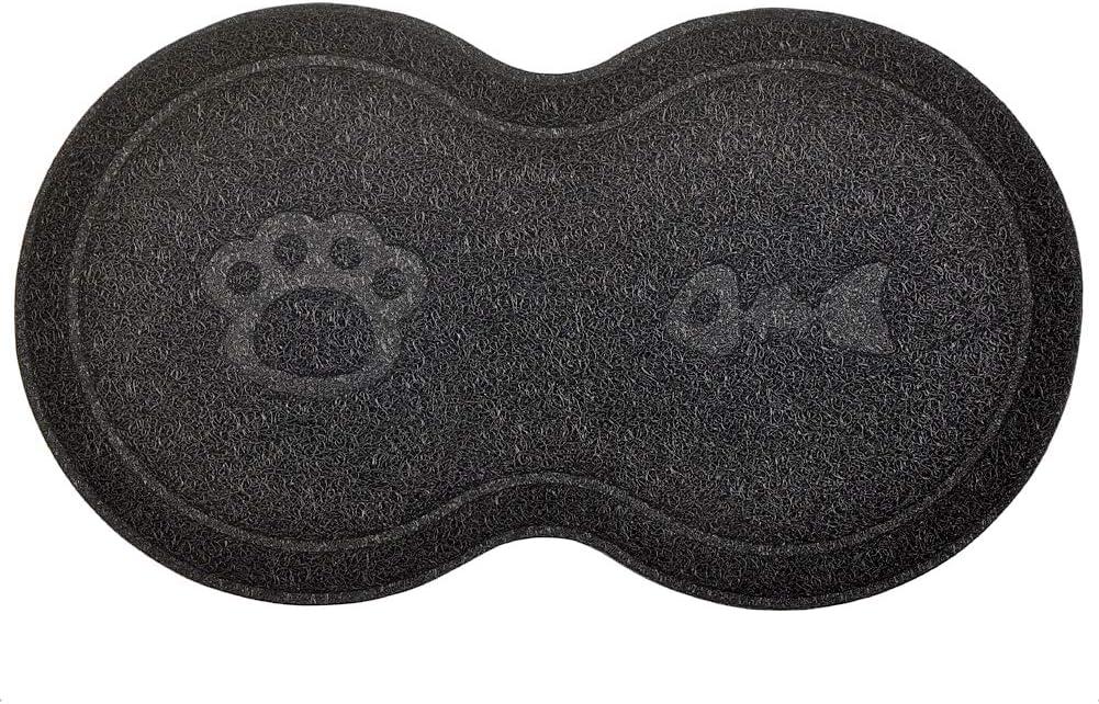 felpudo Alfombra para arena de gato en forma de 8 alfombra para gatos 46 x 26 cm