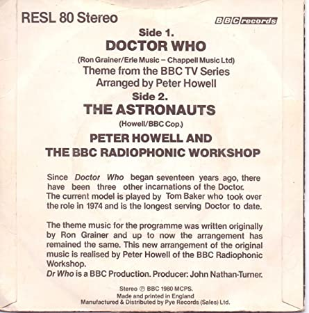 Doctor Who: Theme from the BBC TV Series / The Astronauts ...