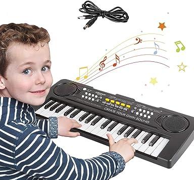 Pianos Infantiles,Teclado Piano Niños 37 Teclas Electrónico Música Teclado Piano Mini Teclado Portátil Enseñanza Juguete Educativo Regalos para 3- 8 ...