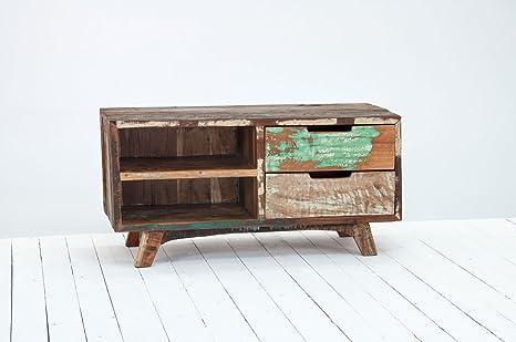 Mobili In Legno Riciclato : Mobili delhi in legno riciclato piccolo mobile tv amazon casa