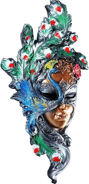 Venetian Mask Wall Decor Wall Sculpture Peacock Decor Decorative Masks of Venice (Peacock)