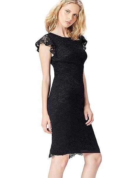 FIND 13576 Vestido Fiesta Mujer, Negro (Black), 38 (Talla del Fabricante