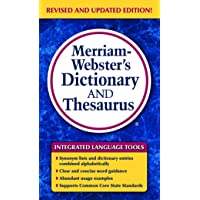Image for Merriam-Webster's Dictionary and Thesaurus, Mass-Market Paperback