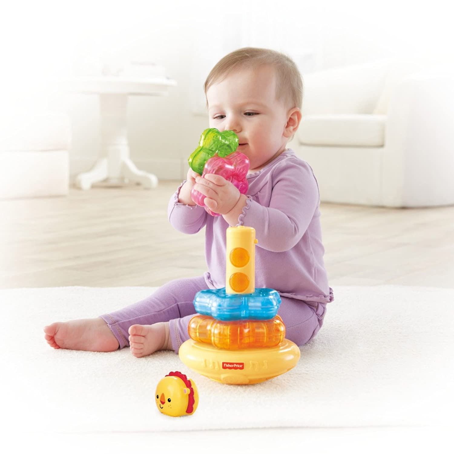Amazon Fisher Price Light Up Lion Stacker Toys & Games