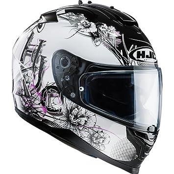 HJC 121331XXS - Casco de moto, color blanco/morado, talla XXS