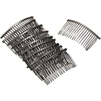 Rocutus 10 pieces 20 Teeth Fancy DIY Metal Wire Hair Clip Combs Metal Wire Hair Combs Wire Twist Bridal Wedding Veil…