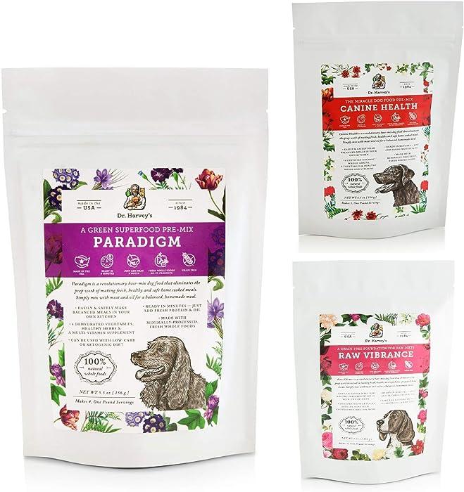 Dr. Harvey's Paradigm, Canine Health & Raw Vibrance Trial Sizes
