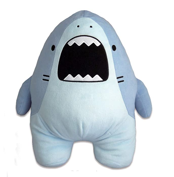 CLEVER IDIOTS INC SAMEZU Plush XL Stuffed Animal Shark - Cute, Collectable and Cuddly Toy Character - Ultra-Soft Polyester Fabric - Authentic Japanese Kawaii Design - Premium Quality (Jaggy)