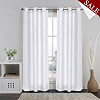 PrimePros Luxury Faux Silk Curtains for Living Room Privacy Protection Eyelet Ring Top, 120cm Width x 213cm Drop, Set of 2