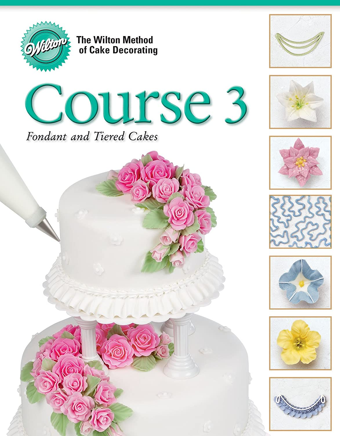 Amazon wilton 902 248 cake decorating course 3 fondant and amazon wilton 902 248 cake decorating course 3 fondant and tiered cakes kitchen dining junglespirit Image collections