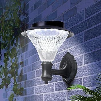Beidelt Solar Wall Light Outdoor Decorative 16led Solar Proch Sensor Lantern Lights Wireless Waterproof Landscape Decoration Auto On Off Security Light For Garden Patio Yard Driveway 1pack Amazon Com