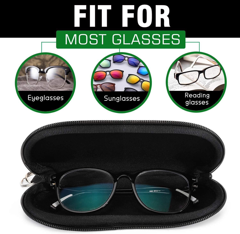 CHOKRA Sylized Octopus Soft Neoprene Eyeglasses Case with Carabiner Ultra Light Portable Zipper Sunglasses Glasses Case