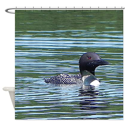 CafePress Wet Loon Decorative Fabric Shower Curtain 69quot