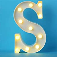Decorative LED Illuminated Letter Marquee Sign - Alphabet Marquee Letters with Lights For Wedding Birthday Party…
