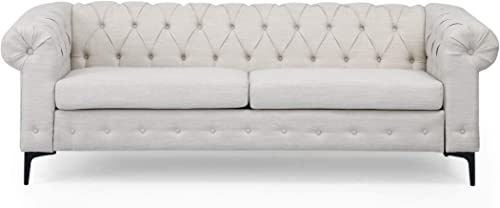 Christopher Knight Home Nina Fabric 3 Seater Sofa