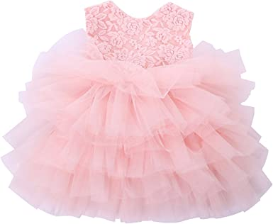 Girls Toddler Baby Tutu Dress Princess Floral Print Party Birthday Pageant Kids