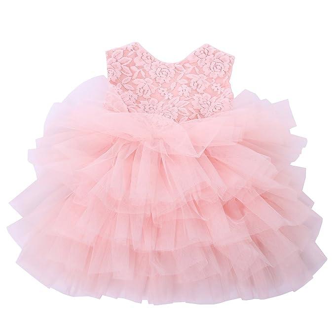 Amazon.com: Cilucu - Vestido de fiesta para bebé o niña, con ...