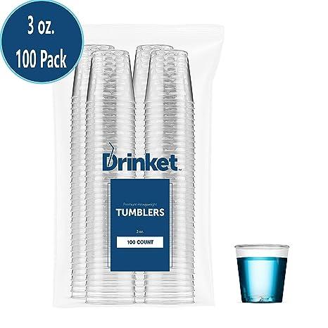 Review DRINKET Plastic Shot Glasses