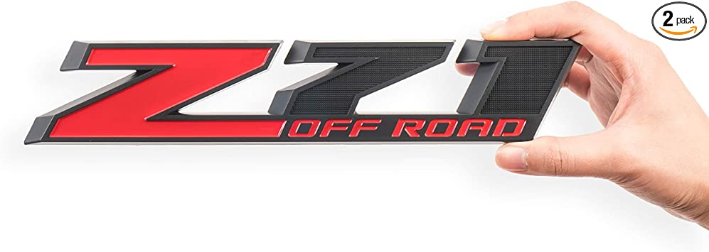 2Pack Black Z71 Emblem 10.3inch Decal for GM Chevy Silverado Colorado GMC Sierra Tahoe Suburban