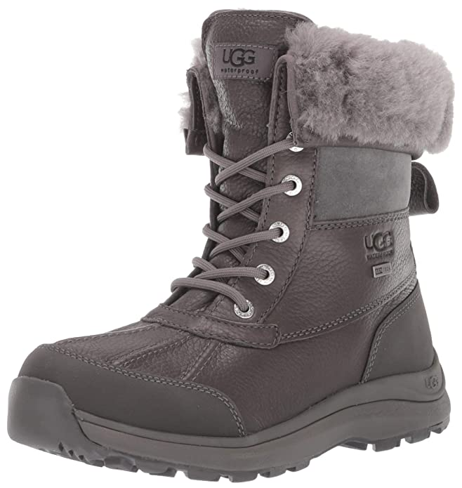 UGG Women's Adirondack Boot III Snow, Charcoal, 7 M US