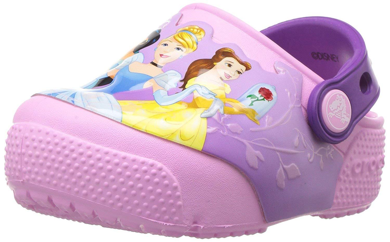 Crocs Kids' Crocsfunlab Lights Princess Clog,Amethyst,1 M US Little Kid