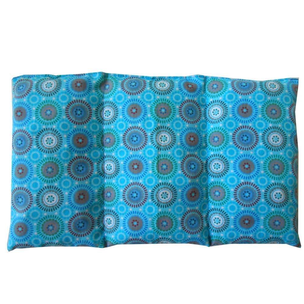 Cuscino termico 'Disco Cyan' - 26 x 16 cm (M / L) - pieno di noccioli di ciliegia 330gr - effetto freddo/caldo . saco termiche