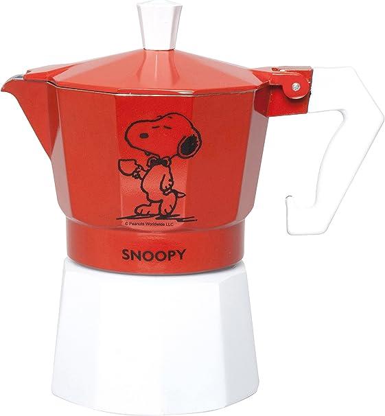 Molecuisine Cafetera Peanuts Snoopy Rojo: Amazon.es: Hogar