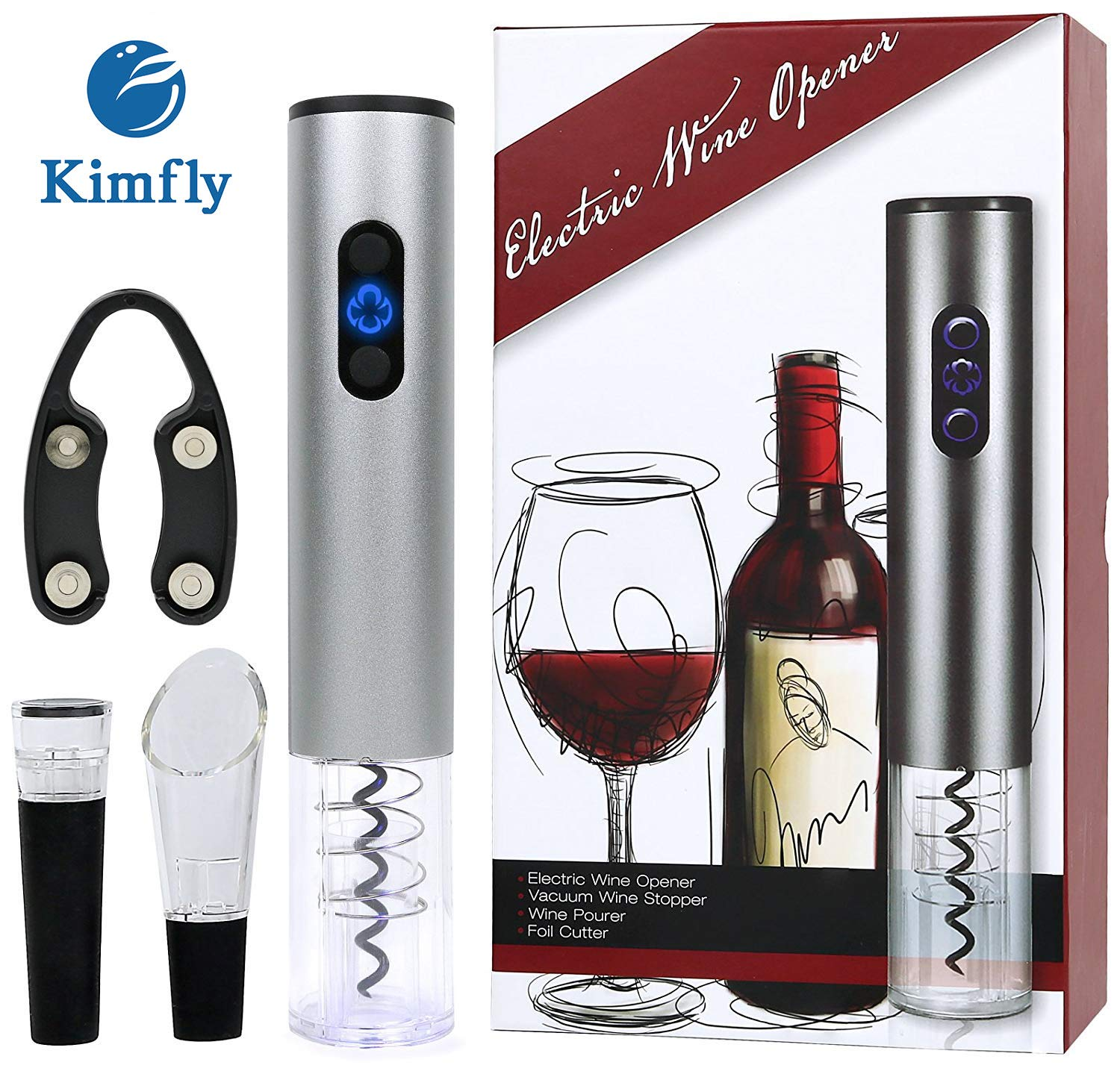 An electric wine opener that makes drinking wine even better