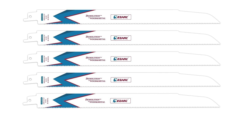 EZARC Sä belsä geblä tter R930DM for Holz und Metall Demolition 225mm 10TPI (5 Stü ck)