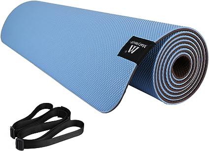 "6mm Premium TPE Yoga Mat Carry Strap Eco Friendly Fitness single color 72/"" x 24/"""