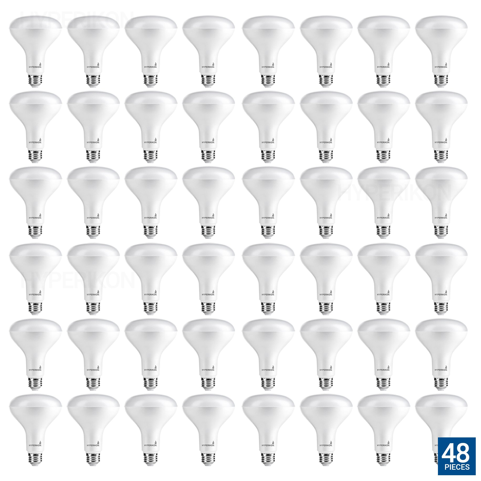 Hyperikon BR30 LED Bulb Dimmable, 9W (65W Equivalent), 3000K (Soft White Glow), Wide Flood Light Bulb, Medium Base E26, UL & ENERGYSTAR - Great for Bedroom Lighting, Living Room, Dining Room (48 Pack) by Hyperikon