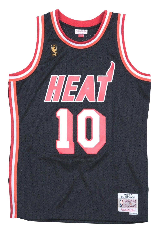 online store ab2b0 dbeea Mitchell & Ness Tim Hardaway 1996-97 Miami Heat HWC Black Swingman Jersey  Men's