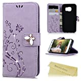 Amazon Price History for:S7 Case,Samsung Galaxy S7 Case - Mavis's Diary 3D Handmade Wallet Bling Crystal Diamonds Butterfly Embossed Flowers PU Leather Magnetic Flip Folio Protective Soft TPU Inner Cover Card Holders - Purple